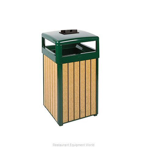 Rubbermaid FGR34HTWU50PLEGN Waste Receptacle Outdoor (Magnified)