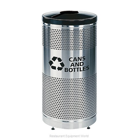 Rubbermaid FGS3SSGBKPL Waste Receptacle Recycle