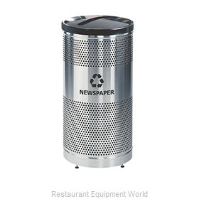 Rubbermaid FGS3SSPBKPL Recycling Receptacle / Container