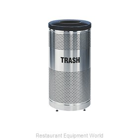 Rubbermaid FGS3SSTBKPL Waste Receptacle Recycle