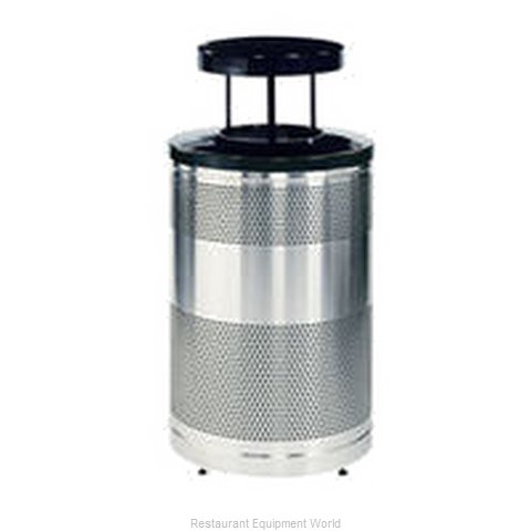 Rubbermaid FGS55SSTWSBKPL Waste Receptacle Recycle (Magnified)