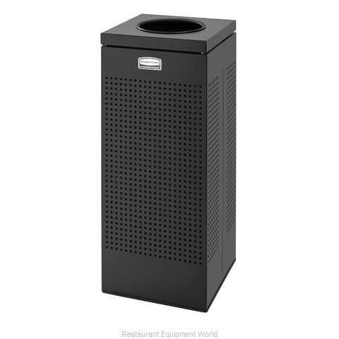 Rubbermaid FGSC10EPLTBK Trash Garbage Waste Container Stationary
