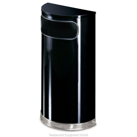 Rubbermaid FGSO820PLBK Waste Basket Metal