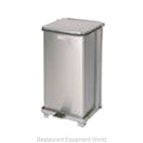 Rubbermaid FGST12SSPL Waste Basket, Metal