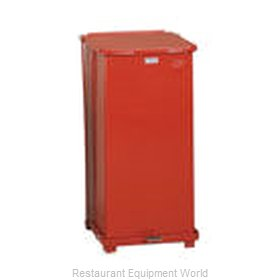 Rubbermaid FGST24EPLRD Waste Basket, Metal