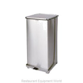 Rubbermaid FGST24SSPL Waste Basket, Metal
