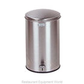 Rubbermaid FGST35SSPL Waste Basket, Metal