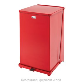 Rubbermaid FGST40EPLRD Waste Basket, Metal