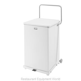 Rubbermaid FGST40EWPLWH Waste Basket, Metal