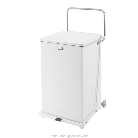 Rubbermaid FGST40EWRBWH Waste Basket, Metal (Magnified)
