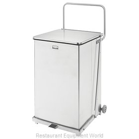 Rubbermaid FGST40SWPL Waste Basket, Metal