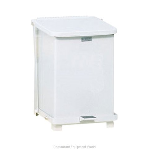 Rubbermaid FGST7EPLWH Waste Basket, Metal (Magnified)