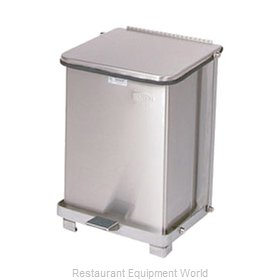 Rubbermaid FGST7SSPL Waste Basket, Metal