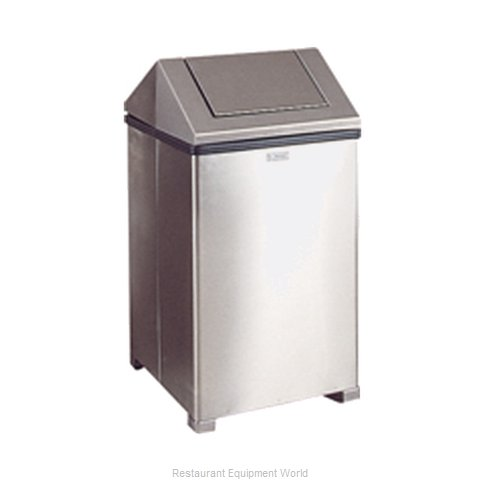 Rubbermaid FGT1414SSRB Trash Garbage Waste Container Stationary