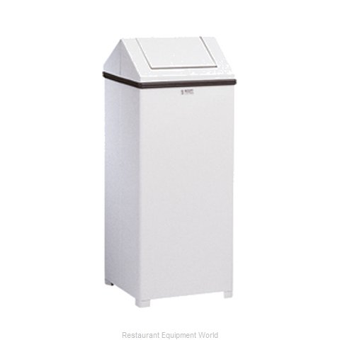 Rubbermaid FGT1424EPLWH Trash Garbage Waste Container Stationary