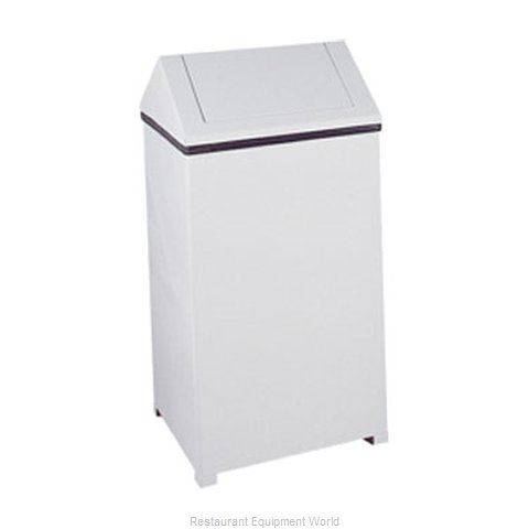 Rubbermaid FGT1940EPLWH Trash Garbage Waste Container Stationary