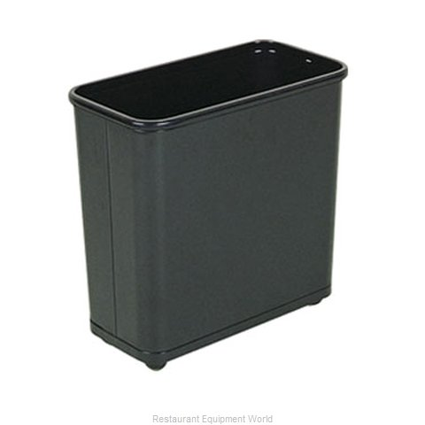 Rubbermaid FGWB30RBK Waste Basket, Metal