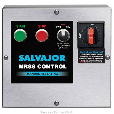 Salvajor MRSS-LD Disposer Control Panel (Magnified)