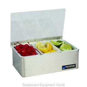 San Jamar B4093L Bar Condiment Server, Countertop