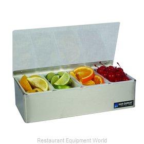 San Jamar B4124L Bar Condiment Server, Countertop