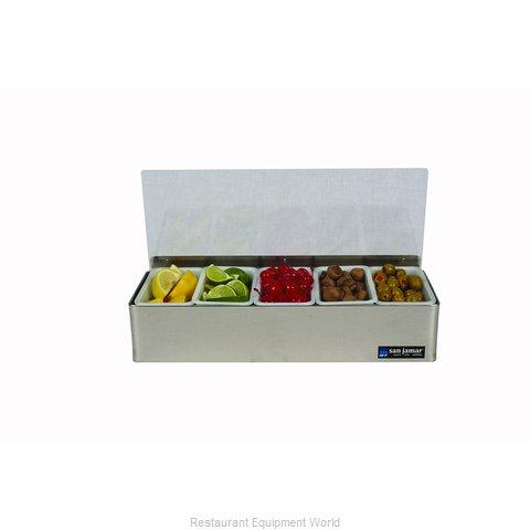 San Jamar B4155L Bar Condiment Server, Countertop