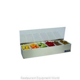 San Jamar B4186L Bar Condiment Server, Countertop