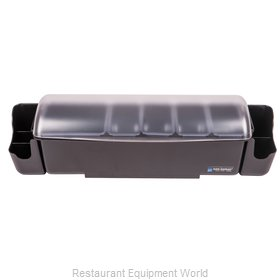 San Jamar BD4005S Bar Condiment Server, Countertop