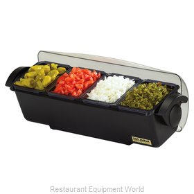 San Jamar BD4014 Bar Condiment Server, Countertop
