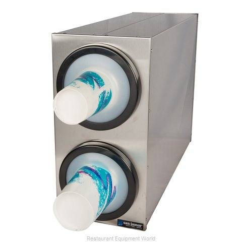 San Jamar C2802 Cup Dispensers, Countertop