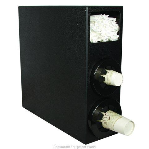 San Jamar C2952SBK Cup Dispensers, Countertop