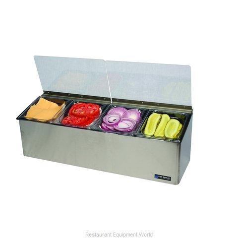 San Jamar FP8244FL Condiment Caddy, Countertop Organizer