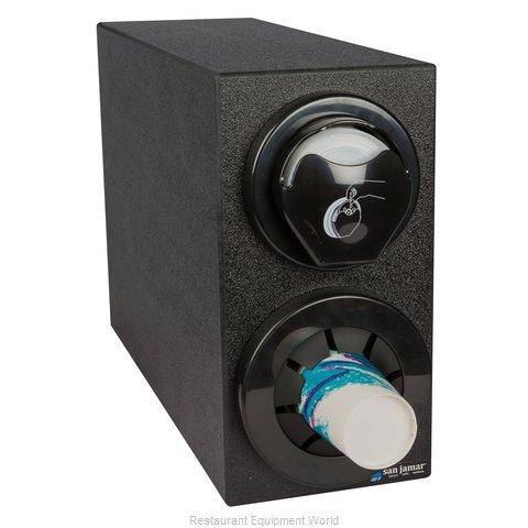San Jamar L24C2951BK Cup Dispensers, Countertop