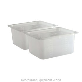 San Jamar MP12RD Food Pan, Plastic