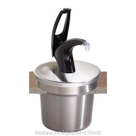 San Jamar P4710BK Condiment Dispenser, Pump-Style
