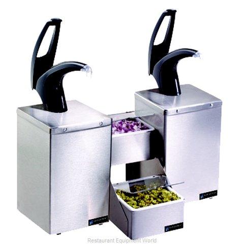 San Jamar P4826BK Condiment Dispenser, Pump-Style