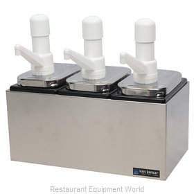 San Jamar P9713 Condiment Dispenser, Pump-Style