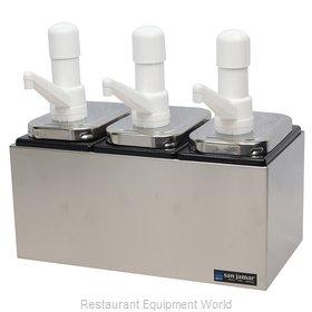 San Jamar P9713 Condiment Dispenser, Pump-Style