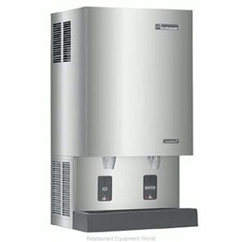 Scotsman MDT5N40W-1 TouchFree Air-Cooled Flake Ice Maker and Dispenser