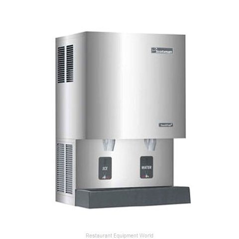 Scotsman MDT5N25W-1 TouchFree Air-Cooled Flake Ice Maker and Dispenser