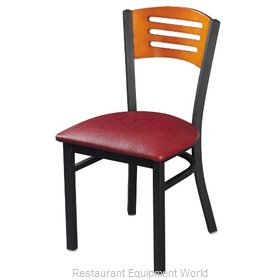Selected Furniture 315-B-WINE Wood-back Chair