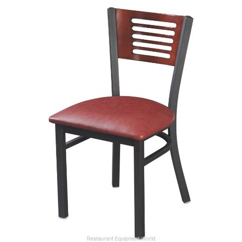 Selected Furniture 315-C-WINE Wood-back Chair