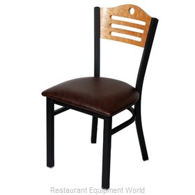 Selected Furniture 315-F-BLACK Wood-back Chair