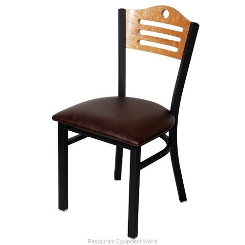 Selected Furniture 315-F-WINE Wood-back Chair