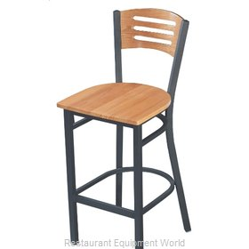 Selected Furniture 315BS-C-WOOD Wood-back Bar Stool