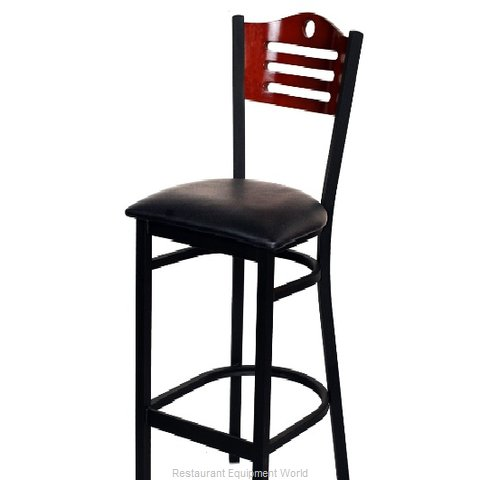 Selected Furniture 315BS-F-BLACK Wood-back Bar Stool