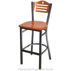 Selected Furniture 315BS-F-BUCKSKIN Wood-back Bar Stool