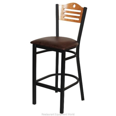 Selected Furniture 315BS-F-WINE Wood-back Bar Stool