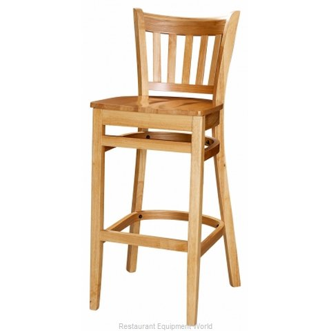Selected Furniture 3545BS-CH-BUCKSKIN Wood-frame Bar Stool
