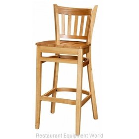 Selected Furniture 3545BS-WL-BUCKSKIN Wood-frame Bar Stool
