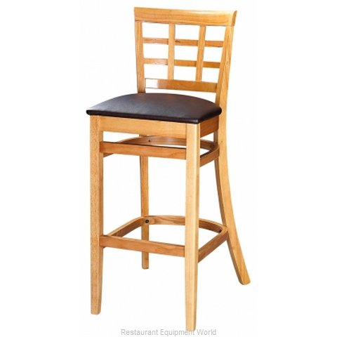 Selected Furniture 4080BS-CH-BLACK Wood-frame Bar Stool